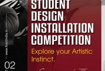"""Expressions - Design Installation Competition! / A Design Competition for Students organized by FOAID. Winning the """"Expressions"""" Award is a certificate of excellence for students, an important milestone in your career.  The winning installations will be displayed on FOAID 2017 website and mention of the College with names on their Website."""