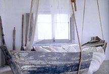 Dream Bedroom / This is my dream bedroom attached to an equally dreamy master bath. A place to relax, to dream, to read and to find peace. A mixture of natural and nautical themes. / by Athena Roth