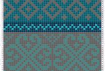 Mønsterstrikk med flere farger
