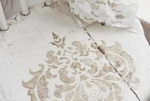 painted furniture with lace