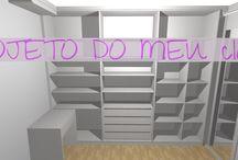 Projeto do meu Closet! E Inspirações! / Veja + Inspirações e Dicas de decoração no blog!  www.construindominhacasaclean.com