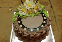 Узоры на тортах