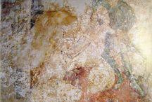 medieval frescoes / european church murals focusing 15th century