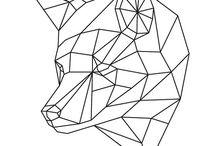 geometrische dieren