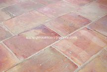 Antique Parefeuille / Old terra cotta Parefeuille tiles from Provence
