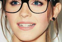 Brille/Make-up