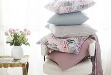 Lennol | Wonderful spring 2018 | Living / Lennol's enchanting new cushions, throws and curtains are here in beautiful pastel colors!