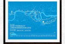 Personalised Marathon artwork