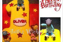 Tweenies number 1 shaped cake