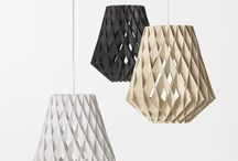 Geometric Pattern / A selection of the most beautiful lights each designed around hard edged lines. No soft shapes here. Explore the world of intersecting lines and interesting shapes!