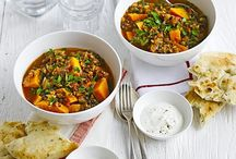 Food - Lentil, quinoa, spinach stews, lasagnes