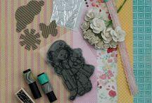 Kit carte2013  / Combinaison de papier, étampe et embellissement