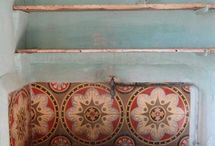 Home: Tile Love / Art tiles, tiled installations, backsplashes, tiled floors. Stone, brick, painted, ceramic. All kinds of lovely tiles. / by Melissa Camara Wilkins