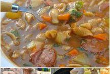 sopa e creme