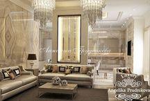 Дизайн квартиры в стиле неоклассика в ЖК Садовые Кварталы / Дизайн квартиры в ЖК «Садовые Кварталы» выполнен в стиле неоклассицизма. Сочная цветовая гамма в интерьере плавно перетекает из пространства холла в гостиную и в остальные комнаты. Это позволило наполнить квартиру комфортным теплом. Современное прочтение классицизма создало новое направление, которое соединяет в себе роскошь и уют.