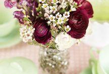 Wedding colours: Rich reds, crimson and claret.