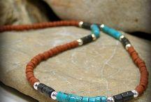 Man stone necklace
