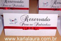 Placas para reservado de mesa e cardápio