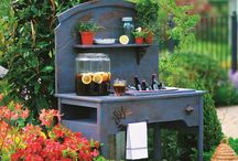Garden Potting Areas and Sheds