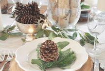 Christmas table decor