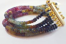 Multi Strand Bracelet / I love genuine gemstones in all the color of nature, I love to put them together in harmony to create unique, special jewels.