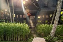 bambu indah / bambu indah is a radically distinctive, unique boutique hotel located in Bali. The eco-luxury boutique hotel is a stunning combination of bamboo buildings and eleven antique Javanese teak wood bridal homes, each with individual design details to surround you in beauty and comfort. www.bambuindah.com