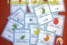 Math Pins / Math printables for K-6 elementary.