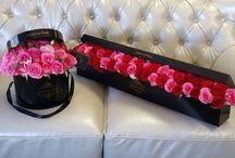 коробки , ящики с цветами