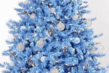 Árboles de Navidad Azules / 0