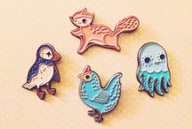 Enamel Pin Love / Wonderfully quirky and amusing enamel pins.