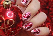 Рождественский нейл-арт