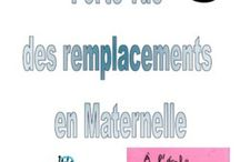 remplacements maternelle