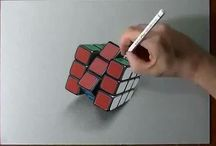 Drawing 3d with pencil
