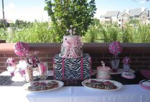pink and zebra ideas