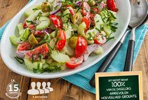 Zomerse salades / Salades voor bij de bbq of als het warm is !