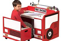 Operation Fire House Bedroom / Rescue, fire truck and firefighter bedroom decor.