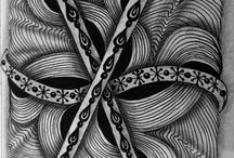 Zentangles made by Natasja Rijsbergen / Zentangles made by Natasja Rijsbergen. I found my tangles on Pinterest.......