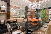 Salas de Jantar Maravilhosas!!! / Veja + Inspirações e Dicas de decoração no blog!  www.construindominhacasaclean.com