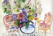 Raoul Dufy (1877-1953) / Artiste appartient au mouvement du Fauvisme, né au Salon d'automne de Paris en 1905 avec le scandale que provoquent certaines œuvres. Les couleurs sont très vives, voire pures et utilisées en larges touches proches de l'aplat. Les valeurs sont utilisées pour exalter la lumière et les contrastes.