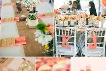 Hochzeitsfarbe Lachs / Orange