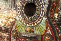 mosaic and glass