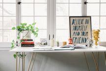 desk / pens. stationery. notes.  / by Jenny Lynn Wood