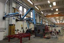 Ampliamento impianto automatizzato di aspirazione per fumi di saldatura / Abbiamo realizzato l'ultimo step del più grande impianto di aspirazione fumi di saldatura presente in Italia, completamente automatizzato con un totale di 100 postazioni.