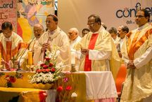 Confluence 2015 : Prayer & Morning Mass / Confluence - A 2 day event held to commemorate the 60 years journey of XISS Ranchi. The event started with Morning Mass in which the Cardinal Rev. Toppo gave his blessings to XISS.