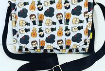 Custom designed bags - by Loulouandmo / A gallery of the customised bags I have created.
