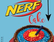 nerf and camuflage cake