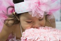 Smash Cake Photo Props / These little baby girls are so incredibly adorable!  There's nothing sweeter than a girl, her cake and her pearls.  Happy first birthday to all of you sweetie girls out there celebrating with an amazing first birthday smash cake photography session.