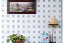 Create a custom headboard with our Tempered Wood Pegboards