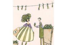 """Silke Leffler - """"Wachsende Freunde"""" / Die Designserie """"Wachsende Freunde"""" aus dem Grätz Verlag stammt aus der Feder von Silke Leffler und richtet sich vor allem an Pflanzenliebhaber und Hobbygärtner. Die liebevoll illustrierten Motive machen Lust auf Gärtnern, Buddeln und Pflanzen! https://www.graetz-verlag.de/silke-leffler__wachsende-freunde"""