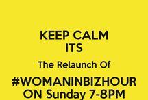 #WomanInBizHour - Sundays